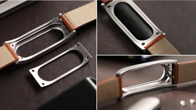 Genuine Leather Wrist Strap For MiBand