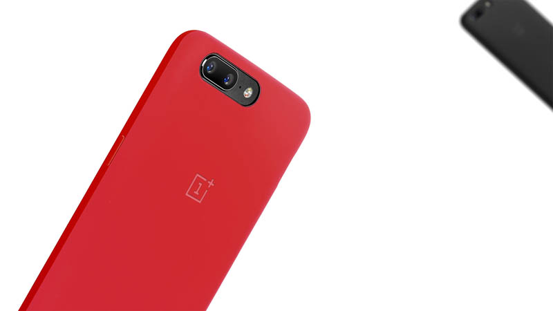 Original Official Silicone Protective Case Cover for Oneplus 5 ( Red / Black )