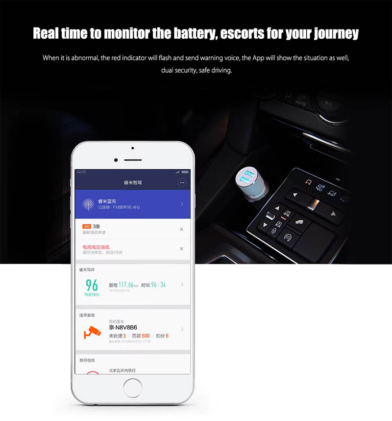 Xiaomi Roidmi 3S Car Charger